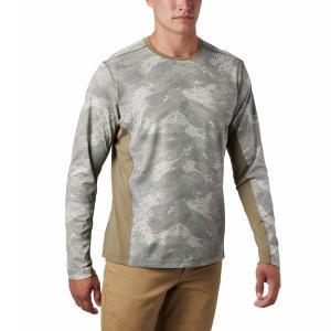 コロンビア シャツ メンズ トップス Solar Chill 2.0 Long-Sleeve Shirt - Men's Fossil Mesh Print|astyshop
