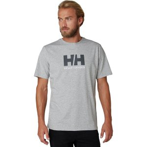 ヘリーハンセン Tシャツ メンズ トップス Logo Short Sleeve T-Shirt - Men's Grey Melange astyshop