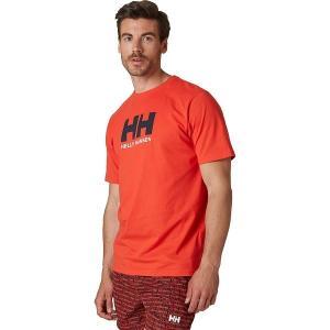 ヘリーハンセン シャツ メンズ トップス Logo Short Sleeve T-Shirt - Men's Alert Red|astyshop