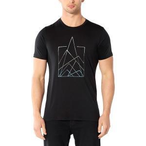 アイスブレーカー シャツ メンズ トップス Tech Lite Short-Sleeve Crew 7 Pinnacles Shirt - Men's Black|astyshop