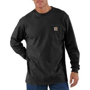 カーハート シャツ メンズ トップス Workwear Pocket Long-Sleeve T-Shirt - Men's Black|astyshop