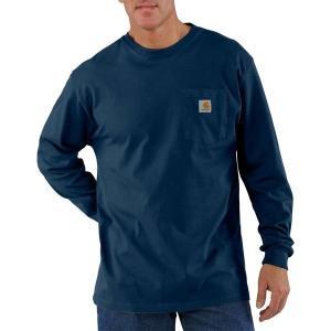 カーハート シャツ メンズ トップス Workwear Pocket Long-Sleeve T-Shirt - Men's Navy|astyshop