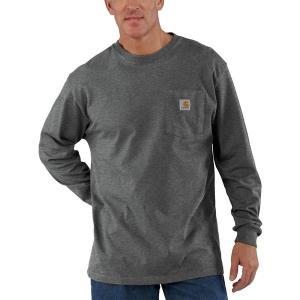 カーハート シャツ メンズ トップス Workwear Pocket Long-Sleeve T-Shirt - Men's Carbon Heather|astyshop