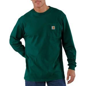 カーハート シャツ メンズ トップス Workwear Pocket Long-Sleeve T-Shirt - Men's Hunter Green|astyshop
