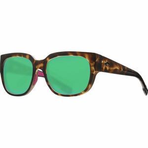 コスタ サングラス&アイウェア レディース アクセサリー Waterwoman 580G Polarized Sunglasses - Women's Matte Shadow Tortoise Frame/Green Mirror 580G|astyshop