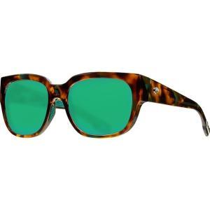 コスタ サングラス&アイウェア レディース アクセサリー Waterwoman 580G Polarized Sunglasses - Women's Shiny Palm Tortoise Frame/Green Mirror|astyshop