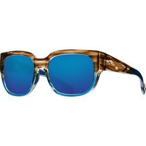 コスタ サングラス&アイウェア レディース アクセサリー Waterwoman 580G Polarized Sunglasses - Women's Shiny Wahoo Frame/Blue Mirror|astyshop
