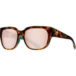 コスタ サングラス&アイウェア レディース アクセサリー Waterwoman 580G Polarized Sunglasses - Women's Shiny Palm Tortoise Frame/Copper Silver Mirror|astyshop