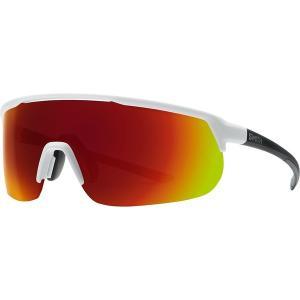 スミス サングラス・アイウェア メンズ アクセサリー Trackstand ChromaPop Sunglasses Matte White/Sun Red Mirror|astyshop