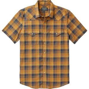 フィルソン シャツ メンズ トップス Snap Front Guide Short-Sleeve Shirt - Men's Bronze/Navy|astyshop