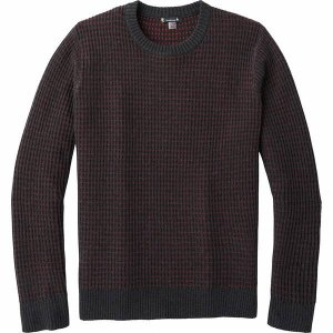 スマートウール ニット、セーター メンズ アウター Ripple Ridge Tick Stitch Crew Sweater - Men's Charcoal Heather|astyshop