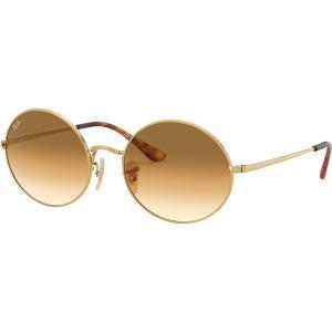 レイバン サングラス・アイウェア メンズ アクセサリー Oval Sunglasses Gold/Clear Gradient Brown|astyshop
