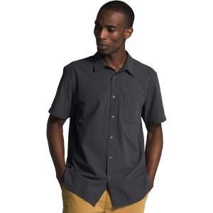 ノースフェイス シャツ メンズ トップス Short Sleeve Baytrail Pattern Shirt - Men's Asphalt Grey|astyshop