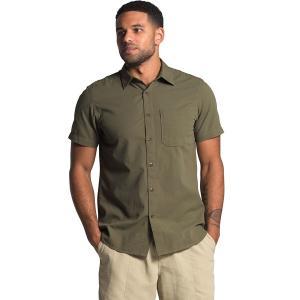 ノースフェイス シャツ メンズ トップス Short Sleeve Baytrail Pattern Shirt - Men's Burnt Olive Green|astyshop