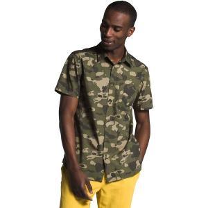 ノースフェイス シャツ メンズ トップス Short Sleeve Baytrail Pattern Shirt - Men's Burnt Olive Green Ponderosa Print|astyshop