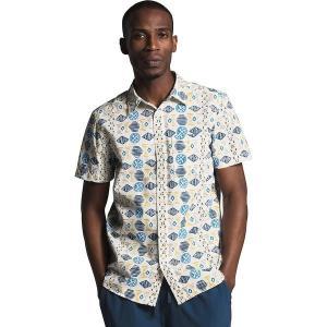 ノースフェイス シャツ メンズ トップス Short Sleeve Baytrail Pattern Shirt - Men's Vintage White Song Lines Print|astyshop