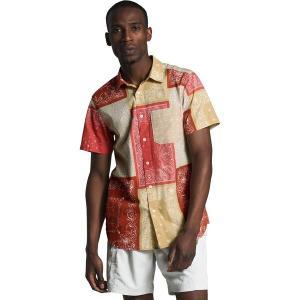 ノースフェイス シャツ メンズ トップス Short Sleeve Baytrail Pattern Shirt - Men's Sunbaked Red Bandana Renewal Multi Print|astyshop