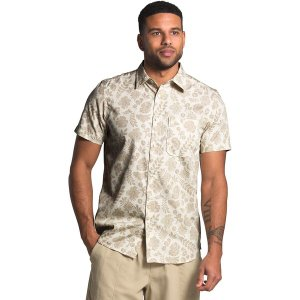 ノースフェイス シャツ メンズ トップス Short Sleeve Baytrail Pattern Shirt - Men's Vintage White Wallflower Tonal Print|astyshop