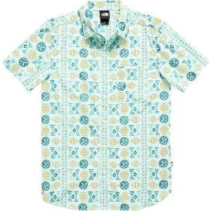 ノースフェイス シャツ メンズ トップス Short Sleeve Baytrail Pattern Shirt - Men's Coastal Green Song Lines Print|astyshop