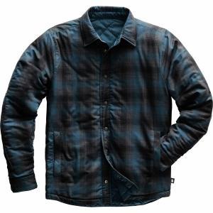 ノースフェイス シャツ メンズ トップス Fort Point Insulated Flannel Jacket - Men's Blue Wing Teal|astyshop