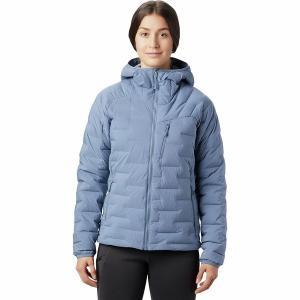 マウンテンハードウェア ジャケット・ブルゾン レディース アウター Super DS Stretchdown Hooded Jacket - Women's Light Zinc|astyshop