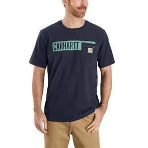 カーハート シャツ メンズ トップス TK178 Relaxed Fit Graphic T-Shirt - Men's Navy2|astyshop