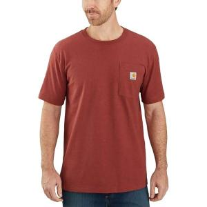 カーハート シャツ メンズ トップス TK178 Relaxed Fit Graphic T-Shirt - Men's Dark Barn Red Heather|astyshop