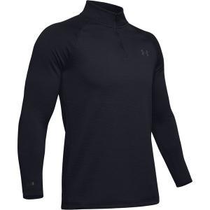 アンダーアーマー Tシャツ メンズ トップス Packaged Base 4.0 1/4-Zip Top - Men's Black/Pitch Gray astyshop