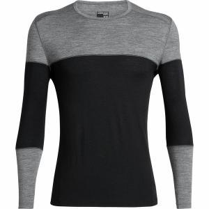 アイスブレーカー Tシャツ メンズ トップス 200 Oasis Deluxe LS Crewe - Men's Black/Gritstone Heather astyshop