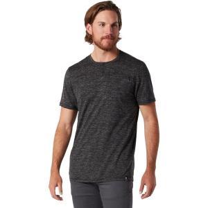 スマートウール シャツ メンズ トップス Everyday Exploration Short-Sleeve Henley Shirt - Men's Black Heather|astyshop