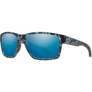 スミス サングラス・アイウェア メンズ アクセサリー Caravan Mag Chromapop Polarized Sunglasses Matte Black Ice Tort/Blue Mirror|astyshop