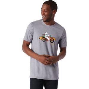 スマートウール シャツ メンズ トップス Merino Sport 150 Motor Bear T-Shirt - Men's Light Gray Heather|astyshop