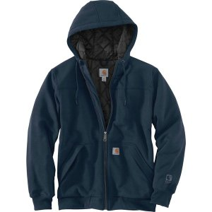カーハート ニット、セーター メンズ アウター Rain Defender Rockland Quilted Lined Full-Zip Hoodie - Men's New Navy|astyshop