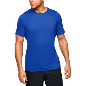 アンダーアーマー シャツ メンズ トップス HG Rush Fitted SS Shirt - Men's Versa Blue/Black|astyshop