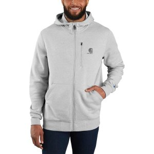 カーハート ニット、セーター メンズ アウター Force Delmont Graphic Full-Zip Hooded Sweatshirt - Men's Asphalt Heather|astyshop