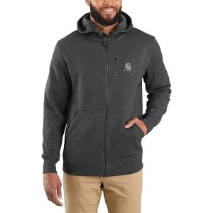 カーハート ニット、セーター メンズ アウター Force Delmont Graphic Full-Zip Hooded Sweatshirt - Men's Black Heather|astyshop