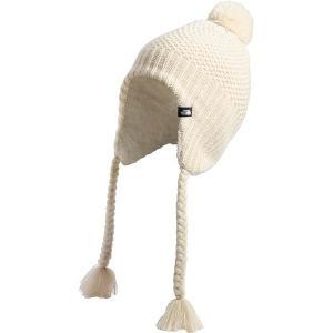 ノースフェイス 帽子 メンズ アクセサリー Purrl Stitch Earflap Beanie - Women's Bleached Sand/Vintage White astyshop