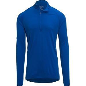 マウンテンハードウェア Tシャツ メンズ トップス Diamond Peak 1/2-Zip Long-Sleeve Top - Men's Altitude Blue astyshop