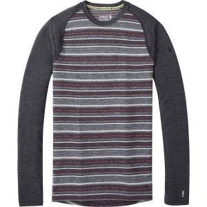 スマートウール Tシャツ メンズ トップス Merino 250 Baselayer Pattern Crew - Men's  Charcoal Margarita astyshop