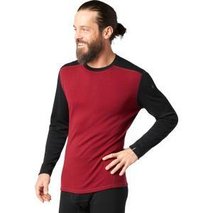 スマートウール Tシャツ メンズ トップス Merino 250 Baselayer Crew - Men's Tibetan Red Heather/Black astyshop