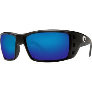 コスタ サングラス&アイウェア レディース アクセサリー Permit 580G Polarized Sunglasses Matte Black Global Fit Frame/Blue Mirror|astyshop