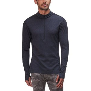 バックカントリー Tシャツ メンズ トップス Spruces Merino 1/4-Zip Top - Men's Black astyshop