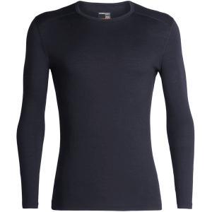 アイスブレーカー Tシャツ メンズ トップス 200 Oasis LS Crew Top - Men's Black astyshop