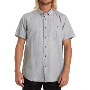 ビラボン シャツ メンズ トップス All Day Short-Sleeve Shirt - Men's Light Grey|astyshop