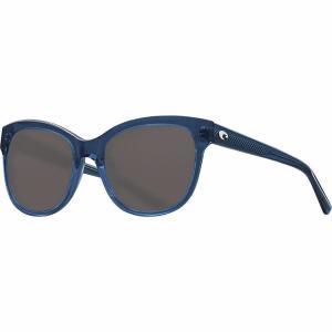 コスタ サングラス&アイウェア レディース アクセサリー Bimini 580G Polarized Sunglasses - Women's Shiny Deep Teal Crystal/Gray Silver Mirror 580G|astyshop