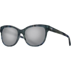 コスタ サングラス&アイウェア レディース アクセサリー Bimini 580G Polarized Sunglasses - Women's Shiny Ocean Current Frame/Gray Silver Mirror|astyshop