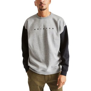 ブリクストン ニット、セーター メンズ アウター Cantor Crew Sweatshirt - Men's Heather Grey/Black|astyshop