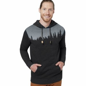 テンツリー ニット、セーター メンズ アウター Juniper Pullover Hoodie - Men's Meteorite Black Heather|astyshop