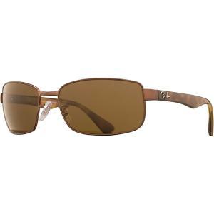 レイバン サングラス・アイウェア メンズ アクセサリー Original Gunmetal Square Sunglasses Brown/Brown Lens|astyshop