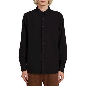 ボルコム シャツ メンズ トップス Oxford Stretch Shirt - Men's New Black|astyshop